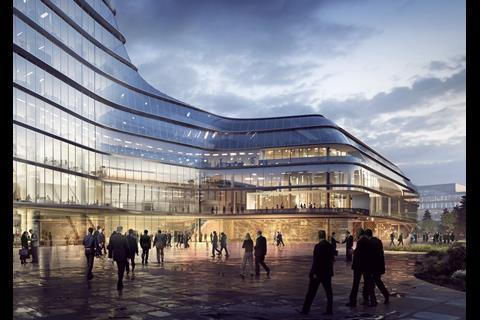 Foster and Partners - MOL campus Budapest - view of entrance plaza